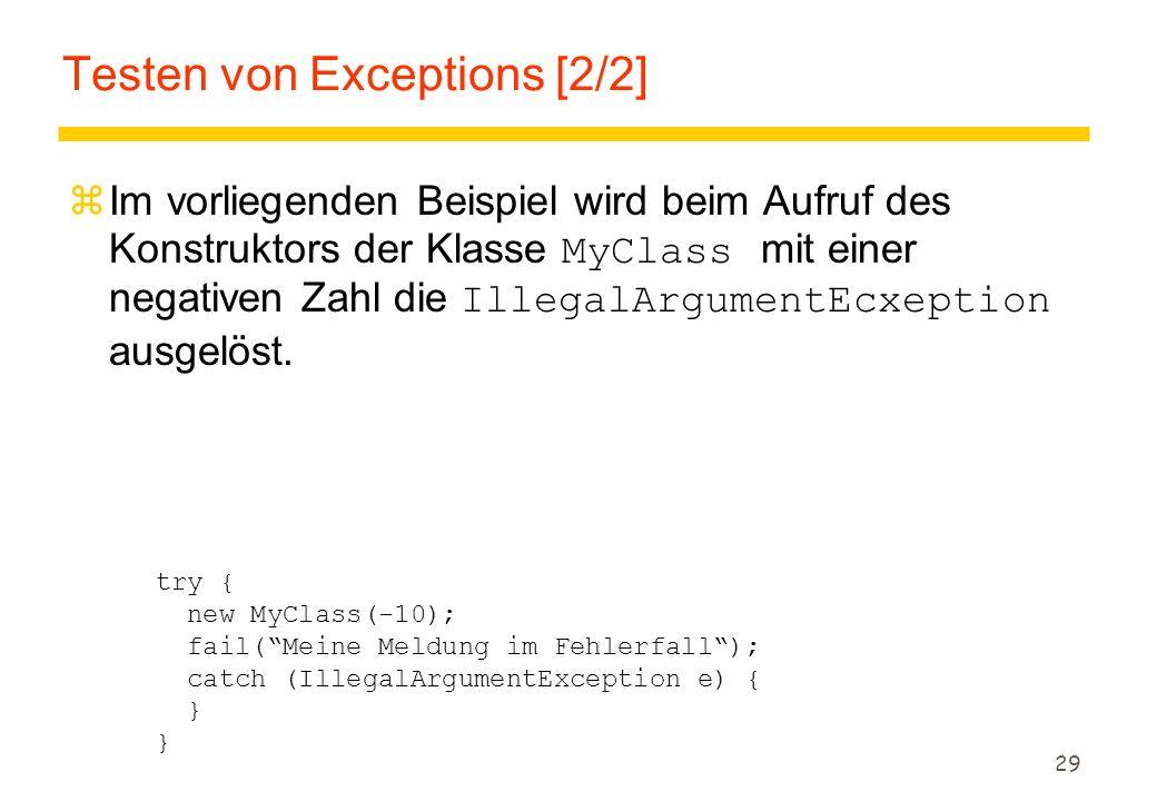 Testen von Exceptions [2/2]